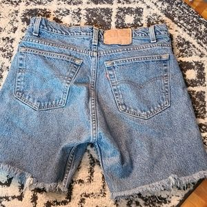 Vintage 505 Levi's high waisted jean shorts